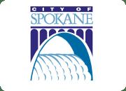 City of Spokane logo.